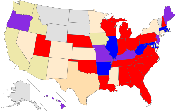 US states - 2012 redistricting - control