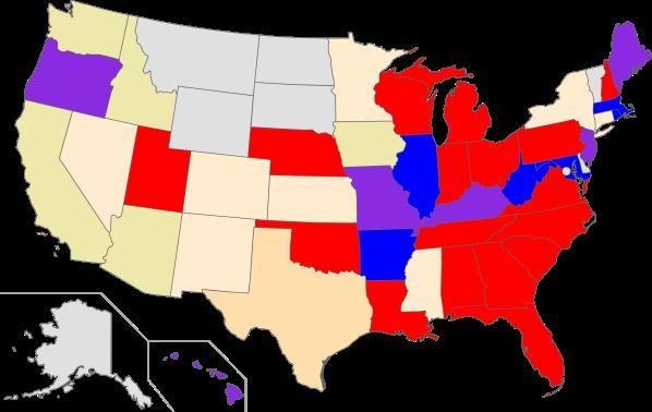 US states - 2012 redistricting - control