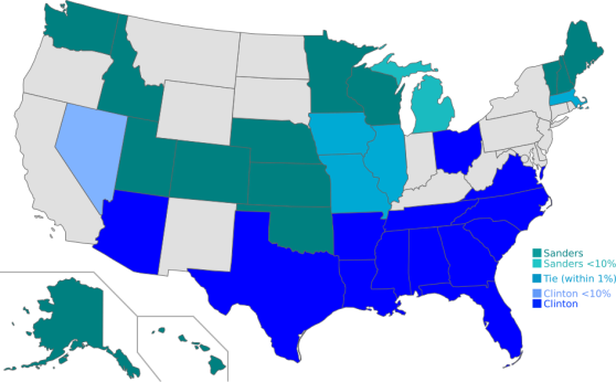 US primaries - winners - Democratic-SA-MO
