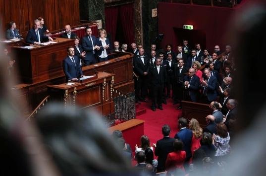 image - France - Macron addres at Versailles