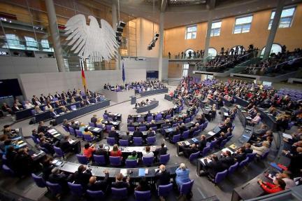 image - Bundestag in session