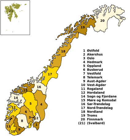 image - counties of Norway