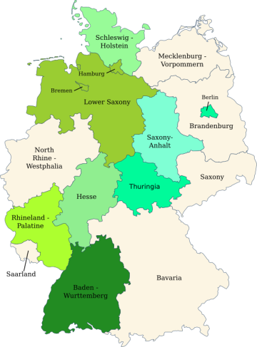 Germany - 2017 - Greens in governments