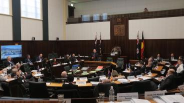 image - Tasmanian House in session